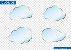 Clouds vector on transparent background. Vector illustration. Royalty Free Stock Photography