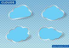 Clouds vector on transparent background. Vector illustration. Stock Photography