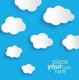 Clouds. Vector clouds, transparent shadows, layered for easy edition Stock Images