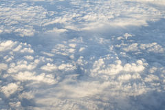 Clouds, view from airplane Stock Photo