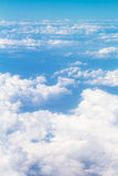Clouds View on flight above Royalty Free Stock Image