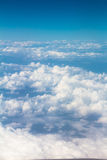 Clouds View on flight above Stock Photo