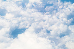 Clouds View on flight above Royalty Free Stock Photography