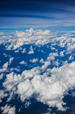 Clouds view from the window of an airplane flying Stock Photography