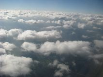 Clouds, view from a window of a plane stock images