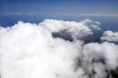 Clouds viewed from airplane Royalty Free Stock Photos