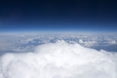 Clouds viewed from airplane Royalty Free Stock Image