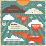 Clouds Vintage Background Concept Stock Photography