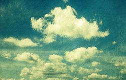Clouds in vintage style. Royalty Free Stock Image
