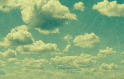 Clouds in vintage style. Stock Image