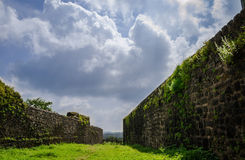 Clouds and ancient Walls Royalty Free Stock Photography