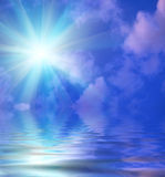 Clouds and water Royalty Free Stock Photo