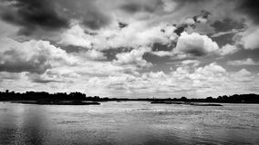 Clouds & water royalty free stock photos