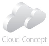 Clouds Weather Icon Concept royalty free illustration