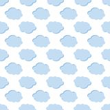 Clouds weather seamless pattern background Royalty Free Stock Photography