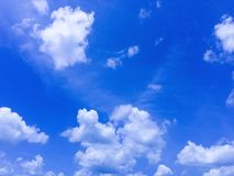 Clouds were floating across the blue sky. Royalty Free Stock Image