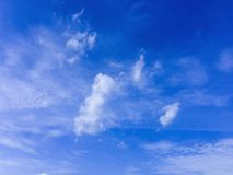 Clouds were floating across the blue sky. Royalty Free Stock Photo
