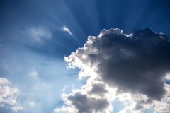 Clouds were obscuring the sun Stock Images