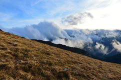 Clouds West Tatras. West Tatras shooted from Red Hills in Poland Royalty Free Stock Images
