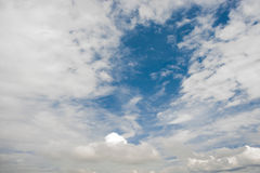 clouds white Arkivfoton