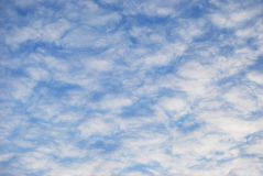 Clouds. White air clouds are in blue sky Royalty Free Stock Photos
