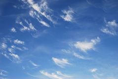 Clouds. White air clouds are in blue sky Stock Image