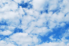 Clouds. White air clouds are in blue sky Royalty Free Stock Image
