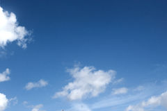 Clouds. White Clouds in a blue sky Stock Image