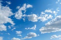 Clouds white blue sky fluffy windy weather daylight sunny. Bright stock photos