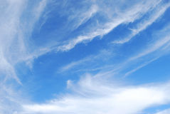 Clouds. White cirro-cumulus are in blue sky Stock Photos