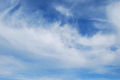Clouds. White cirro-cumulus are in blue sky Stock Image