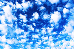 Clouds. White fluffy clouds in the clean blue sky Royalty Free Stock Photos
