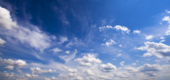 Clouds. The white clouds located in the sky. day time Stock Photo