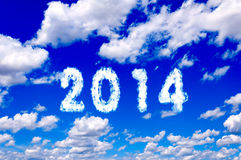 2014 clouds Royalty Free Stock Photography