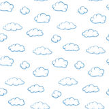 Clouds on white - seamless vector texture Stock Photography