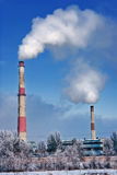 Smog out of Chimneys- Industrial pollution Royalty Free Stock Images