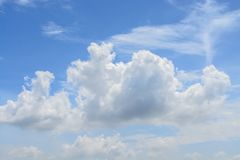 Clouds white soft in the vast blue sky.  royalty free stock images