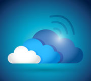 Clouds and wifi connection illustration design Royalty Free Stock Photo