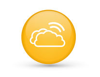 Clouds with Wifi symbol Royalty Free Stock Images