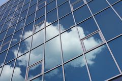Clouds in window. Sky and white cloud in window royalty free stock photography