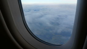 Clouds window air fly stock video footage