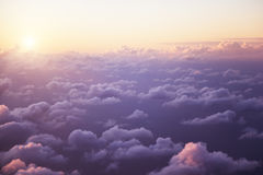 Clouds from the window of airplane Stock Photography