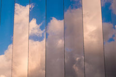 Clouds in windows Stock Images
