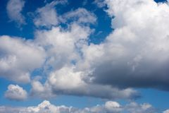 Clouds. During windy and sunny day Stock Photography