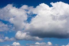 Clouds. During windy and sunny day Royalty Free Stock Image