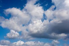 Clouds. During windy and sunny day Royalty Free Stock Photo