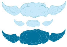 Clouds with wings Stock Photos