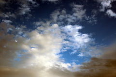 Clouds in a Winter Sky Stock Photos