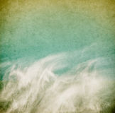 clouds wispy tappning Royaltyfri Fotografi