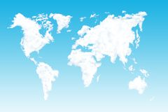Clouds World Map Gradient royalty free stock photos